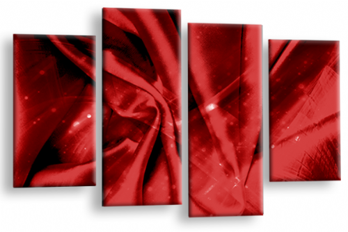 Modern Abstract Canvas Wall Art 2 Tone Red Grey Black Picture
